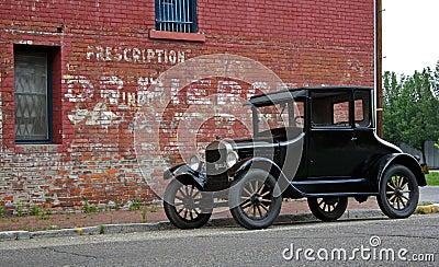 1926 Model T & Brick Building