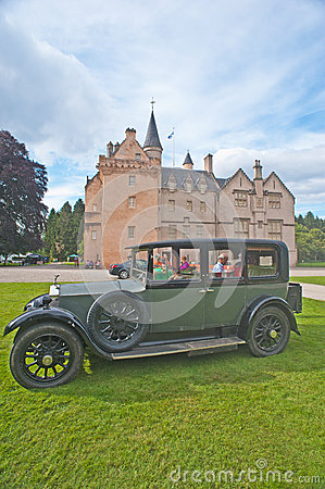 1929 Rolls Royce at Brodie Castle. Editorial Stock Image
