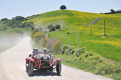A 1930 red ALFA ROMEO 6C 1750 Gran Sport Editorial Photography