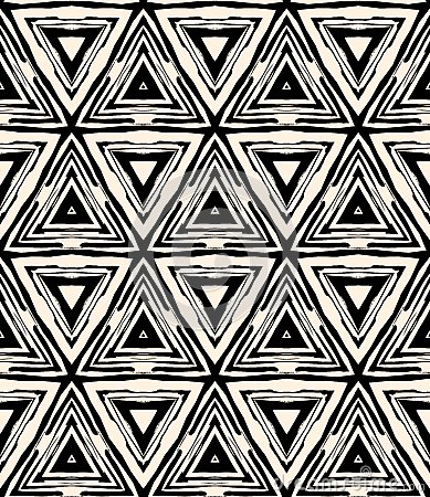 Free 1930s Art Deco Geometric Pattern With Triangles Royalty Free Stock Photo - 31392795