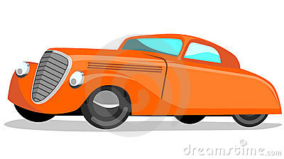 1930s automobile retro style