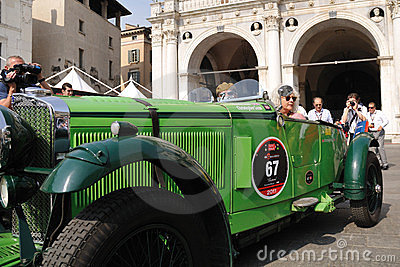 1931 built green TALBOTat 1000 Miglia Editorial Stock Image