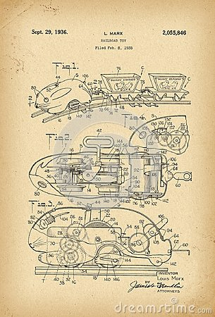 Free 1935 Patent Easter Rabbit Railroad Toy History  Invention Stock Photo - 112395590