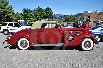1937 Packard 12 Convertible Antique Car Editorial Image
