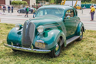 1937 Plymouth Coupe Editorial Stock Photo