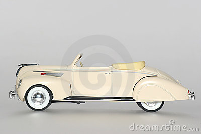 1938 Lincoln Zephir classic toy car sideview