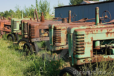 1939 John Deere Model B Tractors Royalty Free Stock