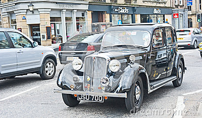 1940 s Rover car in Vintage Rally Editorial Stock Photo