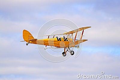 1942 Yellow DH82 Tiger Moth Bi-plane