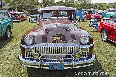 1948年DeSoto汽车 编辑类库存照片