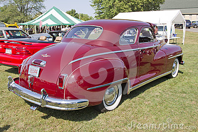 Вид сзади 1948 автомобиля DeSoto Редакционное Фото