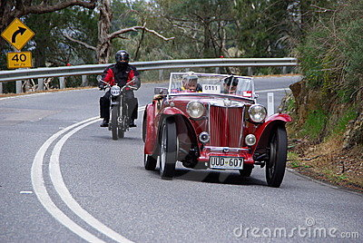 1948 MG TC on Vintage Car Run Editorial Stock Image