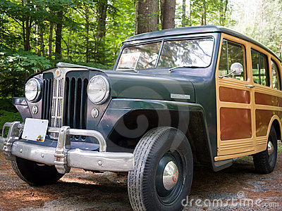 1949 Willys Jeep Station Wagon Editorial Stock Image