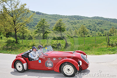 A 1950 red Healey Silverstone Editorial Stock Image