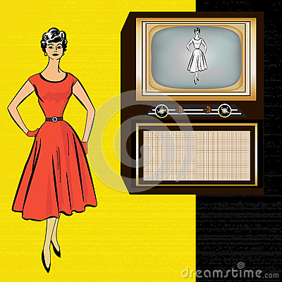 1950 s Retro Television Background