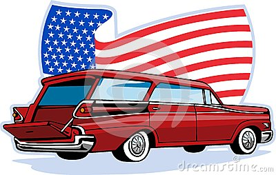 1950 s styled station wagon