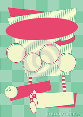 Free 1950s Bowling Style Background And Frame Stock Photos - 32106633