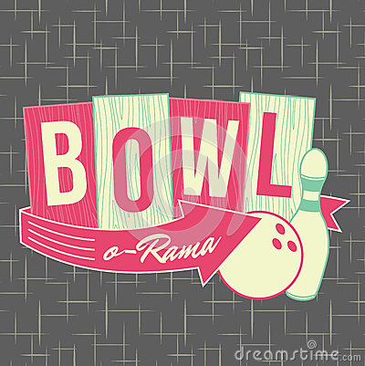 Free 1950s Bowling Style Logo Design Royalty Free Stock Photos - 32436908