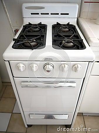 1950s kitchen: retro gas stove