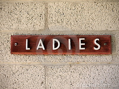 1950s Ladies sign