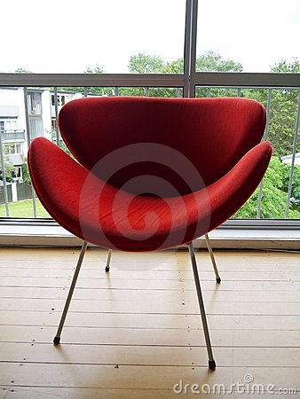 1950s: modernist red chair