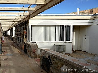 1950s motel: vacant room