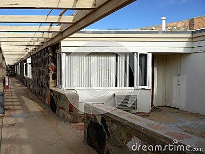 1950s motel: vacant room