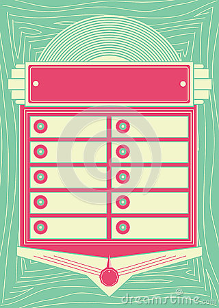 Free 1950s Style Jukebox Background And Frame Royalty Free Stock Image - 32106826