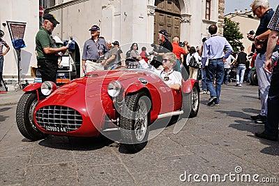 1951 built red Ermini Siluro Sport at 1000 Miglia Editorial Image