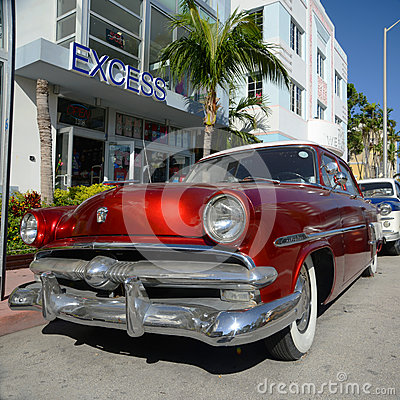 1952 Ford Customline in Miami Beach Editorial Photo