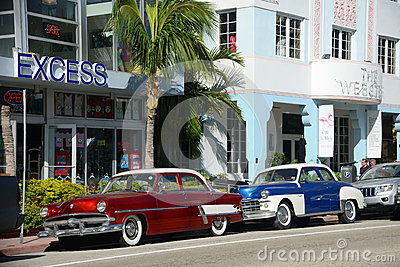 1952 Ford Customline in Miami Beach Editorial Photography