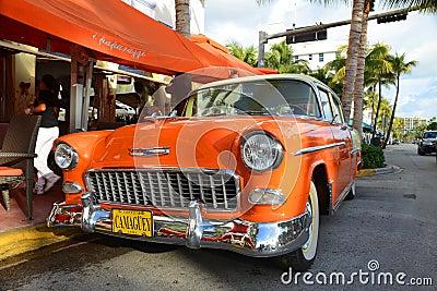 1955 Chevrolet Bel Air in Miami Beach Editorial Photo