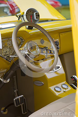 1955 Chevy 3100 Pickup Interior Editorial Photography