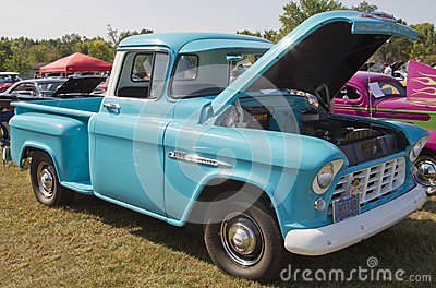 1955 Chevy Aqua Blue Truck Editorial Photography