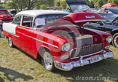 1955 Chevy Bel Air Red & White Editorial Photography