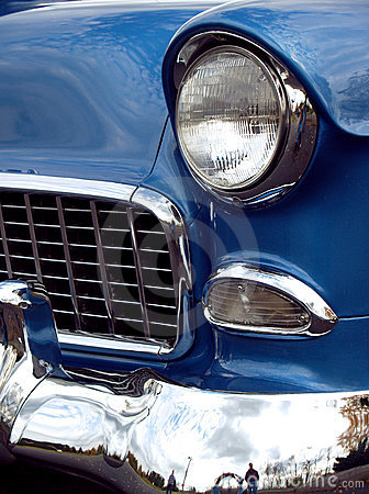 Free 1955 Chevy Sedan Classic Front Stock Photography - 4418442