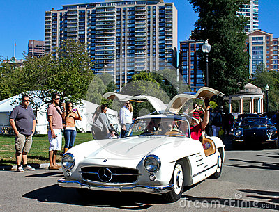 1955 Mercedes Benz 300SL Gullwing Coupe Editorial Photo