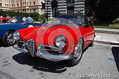 1957 Alfa Romeo Giulietta Spider Veloce Editorial Image