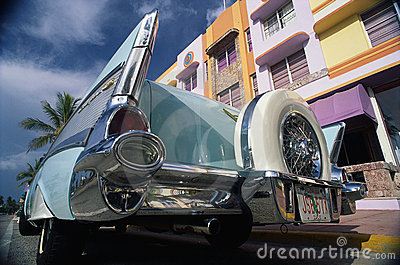 1957 Chevrolet parked in front of a building Editorial Stock Image