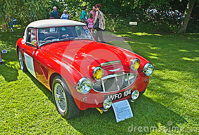 1959  Austin Healey 3000 mark 1 at Brodie Castle Editorial Photography