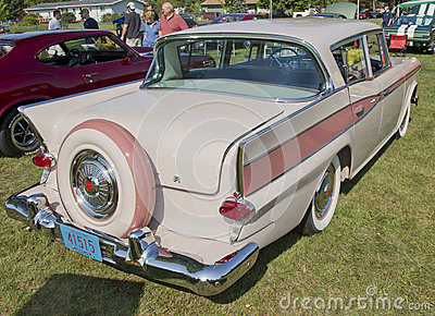 1959 Pink Rambler Rear View Editorial Stock Photo