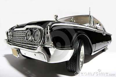 1960 Ford Starliner metal scale toy car fisheye