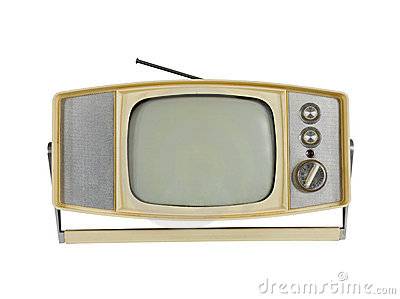 1960 s Portable Television with Handle Stand