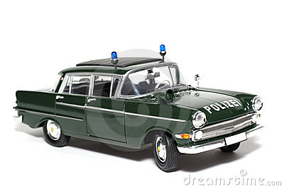 1961 German Opel Kapitän Police scale car #6