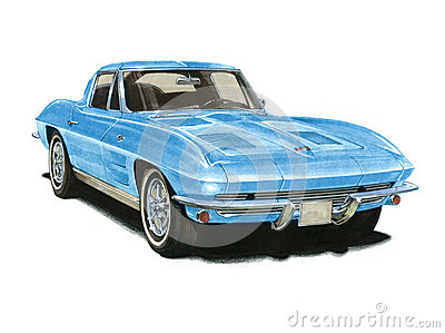 1963 Corvette Sting Ray Editorial Photography