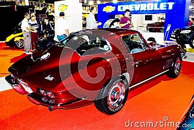 Corvette Stingray 1967 on Editorial Image  1967 Corvette Stingray   Rear   Mph  Image  9477096