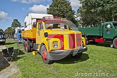 1967 truck scania vabis (swedish) Editorial Stock Photo