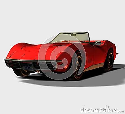 1968 Convertible Sports Car