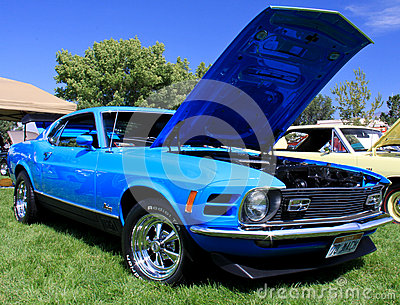 1970 Mach 1 Ford Mustang Editorial Stock Photo