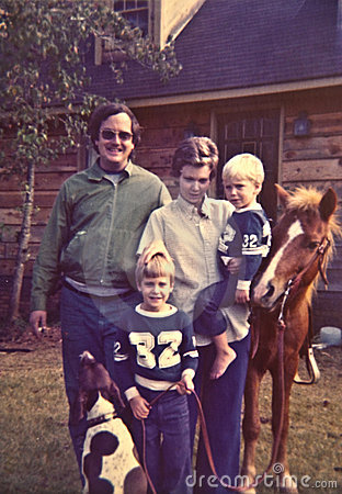 Free 1970 S Family Photo Royalty Free Stock Photo - 6381575